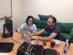 LearnTech Labs instructor Jordan Hart and student Yae-Jin Kim